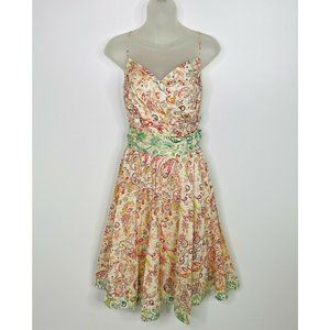 Rubby Ducky Dress Floral Paisley Print Tie Back
